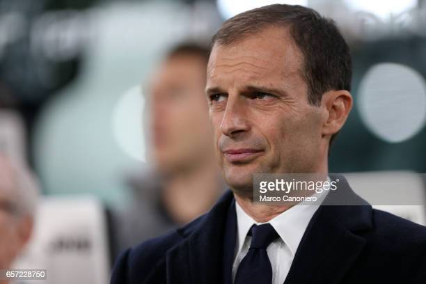 Massimiliano Allegri head coach of Juventus Fc looks on before the Serie A football match between Juventus FC and Ac Milan at Juventus Stadium...