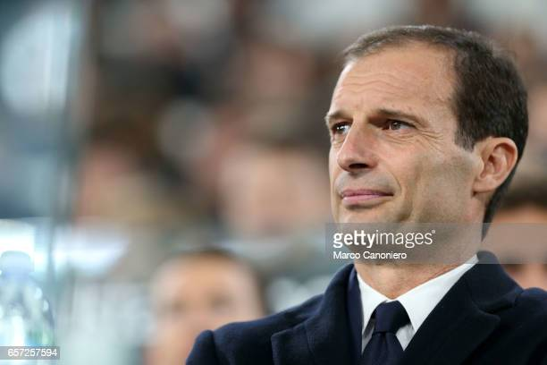 Massimiliano Allegri head coach of Juventus FC looks on before the Serie A football match between Juventus FC and Empoli FC at Juventus Stadium...