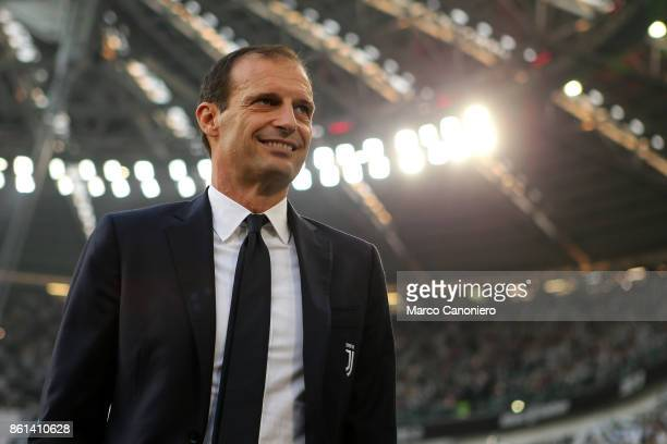 Massimiliano Allegri head coach of Juventus FC looks on before the Serie A football match between Juventus FC and SS Lazio SS Lazio wins 21 over...
