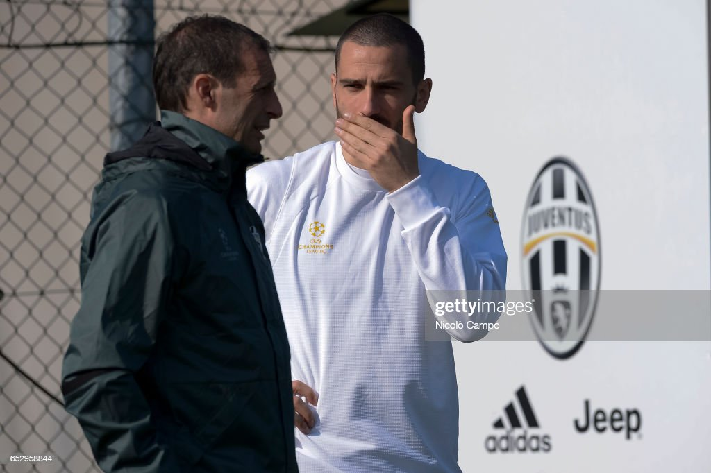 Massimiliano Allegri (left), head coach of Juventus FC,...