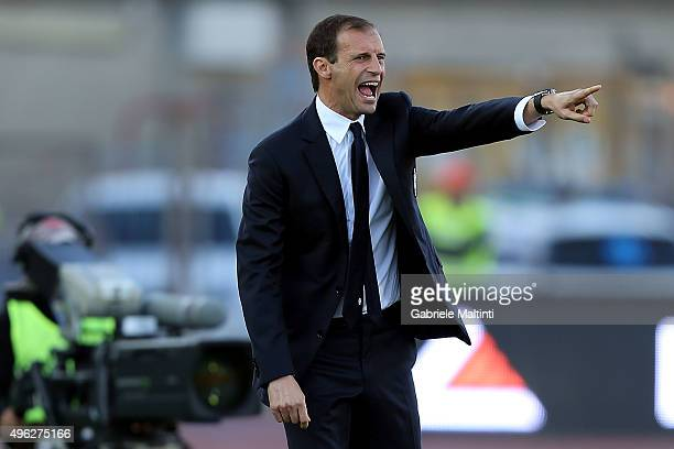 Massimiliano Allegri manager of Juventus FC gives instructions during the Serie A match between Empoli FC and Juventus FC at Stadio Carlo Castellani...