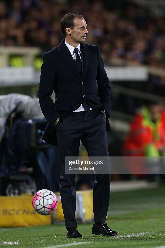 Massimiliano Allegri manager of Juventus FC looks on during the Serie A match between ACF Fiorentina and Juventus FC at Stadio Artemio Franchi on April 24, 2016 in Florence, Italy.