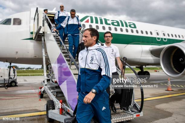Massimiliano Allegri of Juventus arrives on August 4 2017 in London United Kingdom