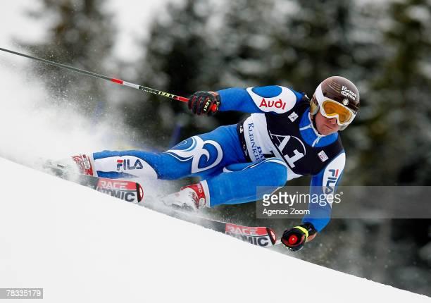 BAD KLEINKIRCHHEIM AUSTRIA DECEMBER 08 Massimiliano Blardone of Italy takes 1st place during the Alpine FIS Ski World Cup Men's Giant Slalom on...