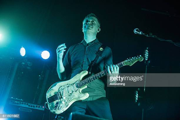 Massimiliano Casacci of Subsonica performs at Rivolta in Venice on February 20 2016 in Venice Italy