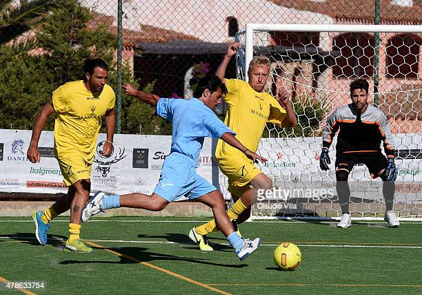 Massimiliano Esposito in action during the Porto Cervo Summer 2015 Fiveaside Football Tournament Day One on June 26 2015 in Porto Cervo Italy