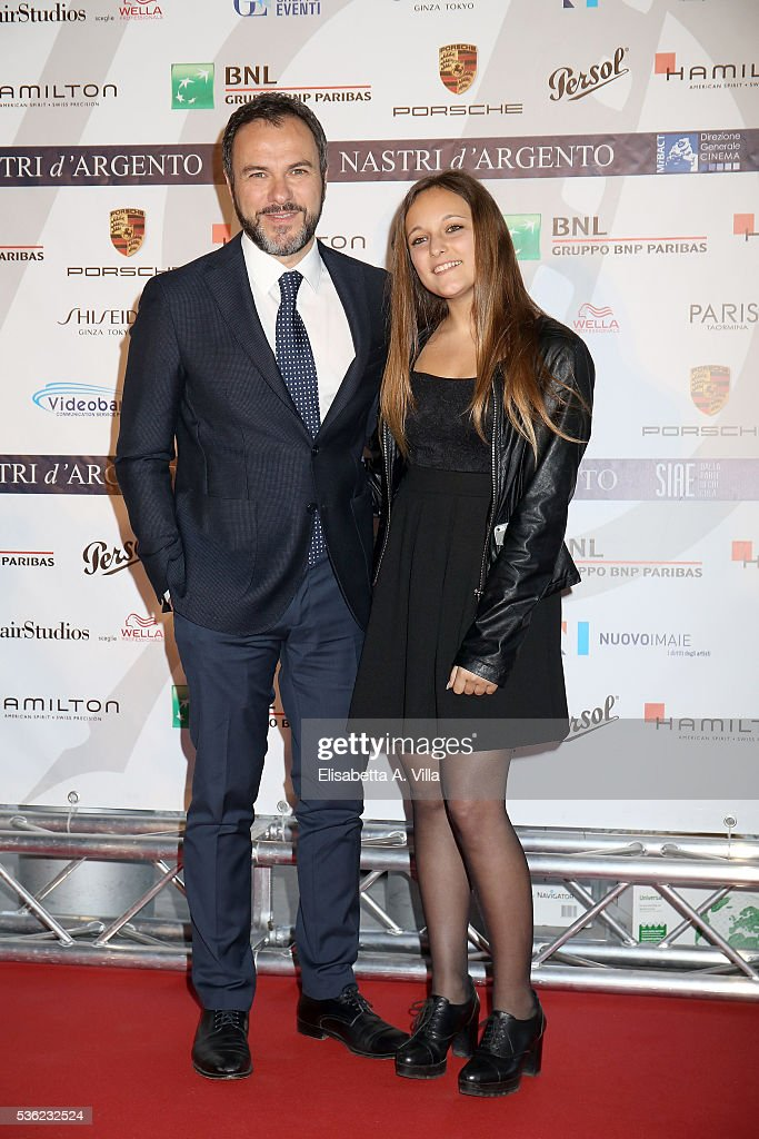 <a gi-track='captionPersonalityLinkClicked' href=/galleries/search?phrase=Massimiliano+Gallo&family=editorial&specificpeople=5763907 ng-click='$event.stopPropagation()'>Massimiliano Gallo</a> and daughter Giulia attend Nastri D'Argento 2016 Award Nominations at Maxxi on May 31, 2016 in Rome, Italy.