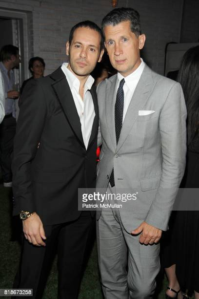Massimiliano Giornetti and Stefano Tonchi attend SALVATORE FERRAGAMO ATTIMO Launch Event at The Standard Hotel on June 30 2010 in New York City