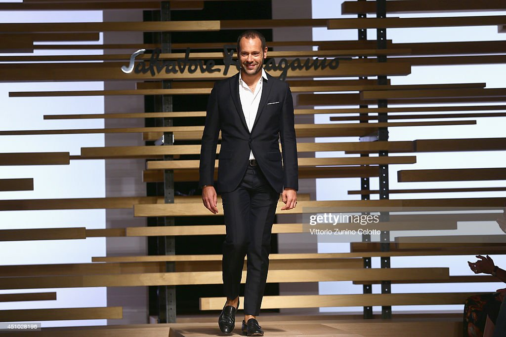 <a gi-track='captionPersonalityLinkClicked' href=/galleries/search?phrase=Massimiliano+Giornetti&family=editorial&specificpeople=3951751 ng-click='$event.stopPropagation()'>Massimiliano Giornetti</a>l walks the runway during the Salvatore Ferragamo show as part of Milan Fashion Week Menswear Spring/Summer 2015 on June 22, 2014 in Milan, Italy.
