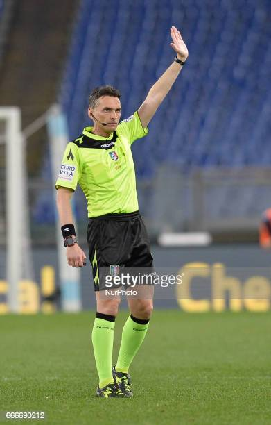 Massimiliano Irrati during the Italian Serie A football match between SS Lazio and AC Napoli at the Olympic Stadium in Rome on april 09 2017