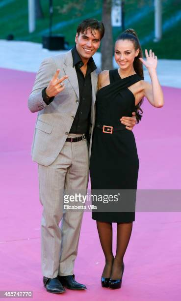 Massimiliano Morra and Adua Del Vesco attend the Roma Fiction Fest 2014 Closing Ceremony Pink Carpet at Auditorium Parco Della Musica on September 19...