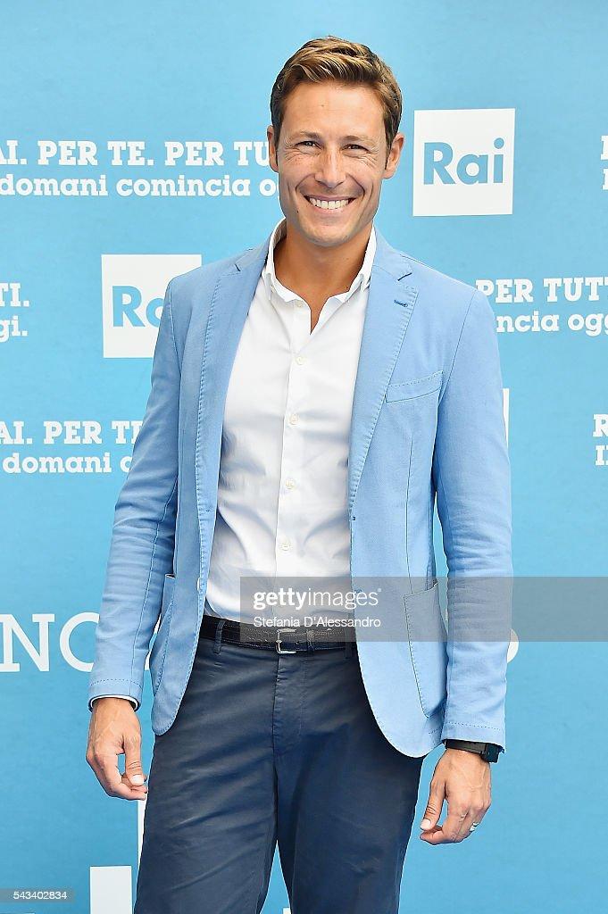 Massimiliano Ossini attends Rai Show Schedule Presentation In Milan on June 28, 2016 in Milan, Italy.