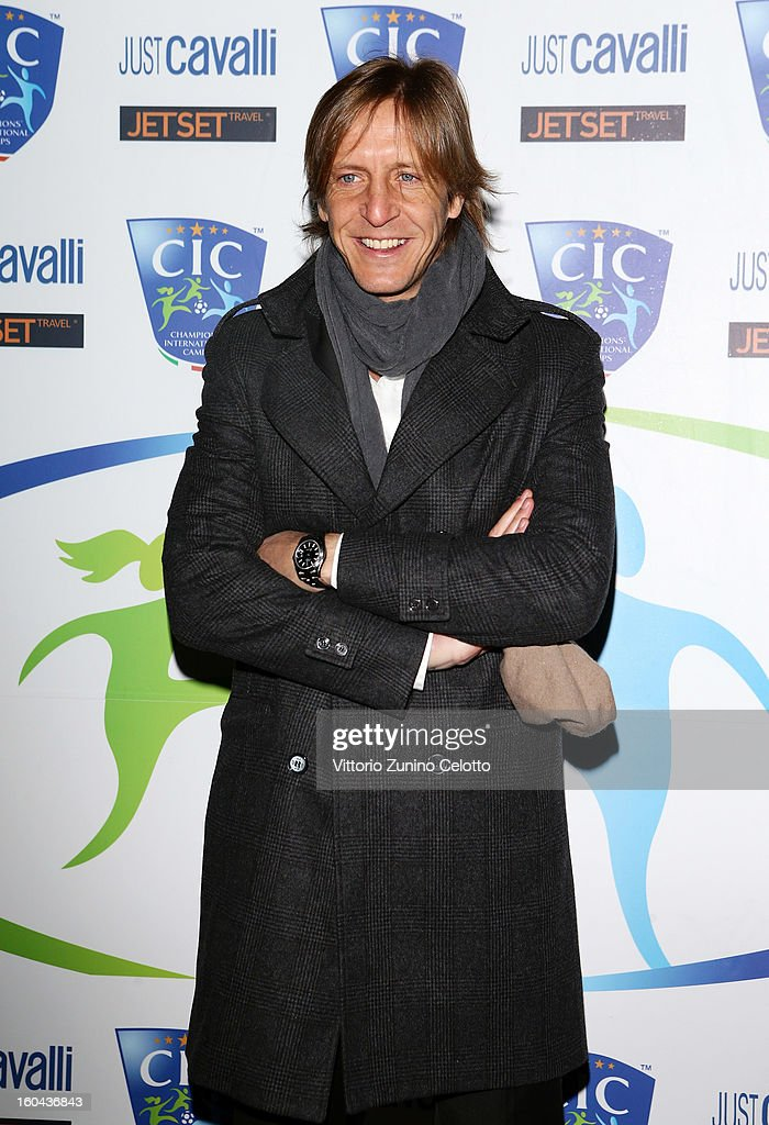 Massimo Ambrosini attends C.I.C. Champions' International Camps photocall at Just Cavalli Cafe on January 31, 2013 in Milan, Italy.