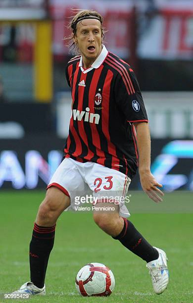 Massimo Ambrosini of AC Milan in action during the Serie A match between AC Milan and Bologna FC at Stadio Giuseppe Meazza on September 20 2009 in...