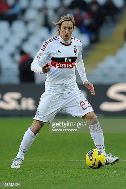 Massimo Ambrosini of AC Milan in action during the Serie A match between Torino FC and AC Milan at Stadio Olimpico di Torino on December 9 2012 in...