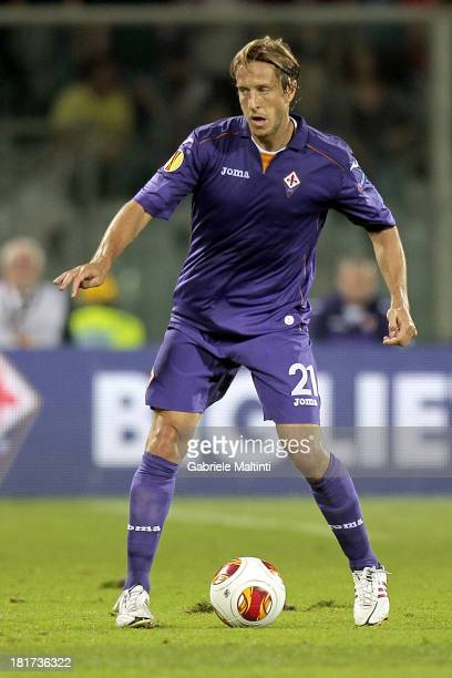 Massimo Ambrosini of ACF Fiorentina in action during the Uefa Europa League Group E match between ACF Fiorentina and FC Pacos de Ferreira at Stadio...