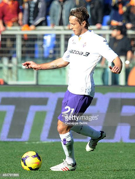Massimo Ambrosini of Fiorentina in action during the Serie A match between AS Roma and ACF Fiorentina at Stadio Olimpico on December 8 2013 in Rome...