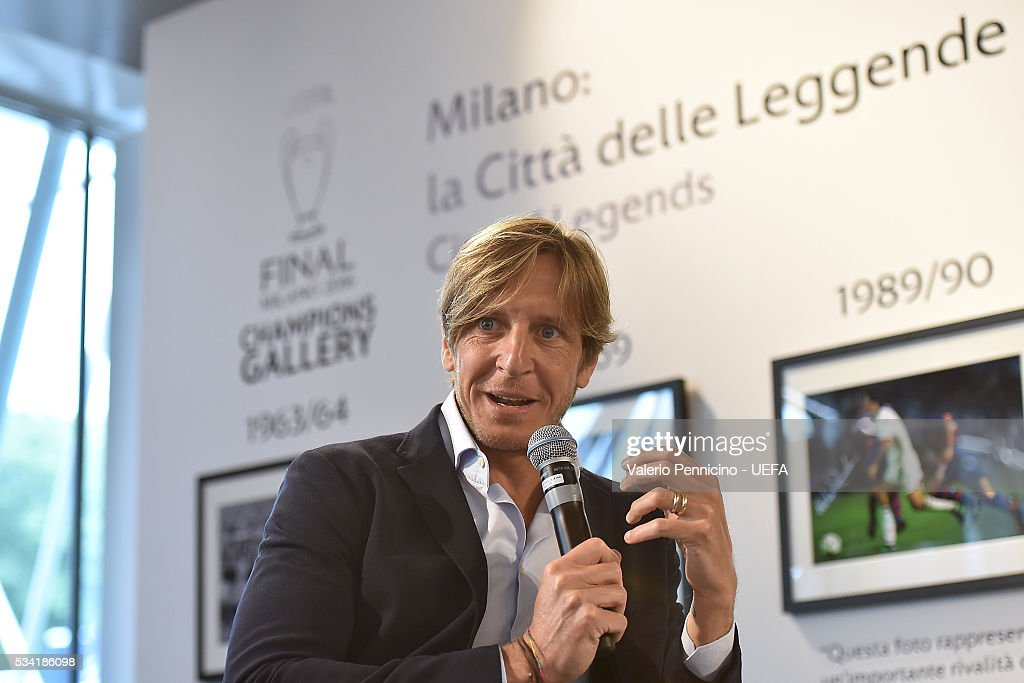 <a gi-track='captionPersonalityLinkClicked' href=/galleries/search?phrase=Massimo+Ambrosini&family=editorial&specificpeople=227979 ng-click='$event.stopPropagation()'>Massimo Ambrosini</a> speaks to the media during the Festival Gallery prior to the UEFA Champions League Final at Stadio Giuseppe Meazza on May 25, 2016 in Milan, Italy.
