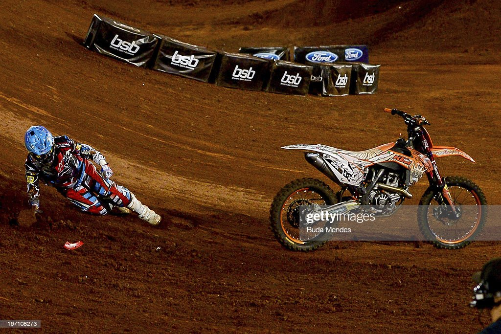 Massimo Bianconcini in action during Moto X Step Up at the X Games on April 19, 2013 in Foz do Iguacu, Brazil.