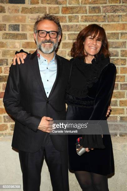 Massimo Bottura and Lara Gilmore attend Dylan Jones and Marco Bizzarri host a cocktail party to launch new film series 'The Performers' at the...