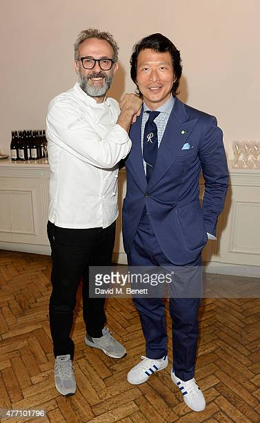 Massimo Bottura and Wei Koh attend the brunch for REDA in collaboration with The Woolmark Company and Magnum celebrating 150 years at One Marylebone...