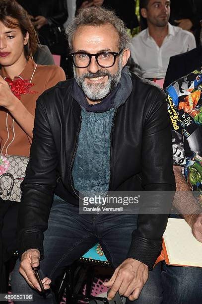 Massimo Bottura attends the Gucci show during the Milan Fashion Week Spring/Summer 2016 on September 23 2015 in Milan Italy