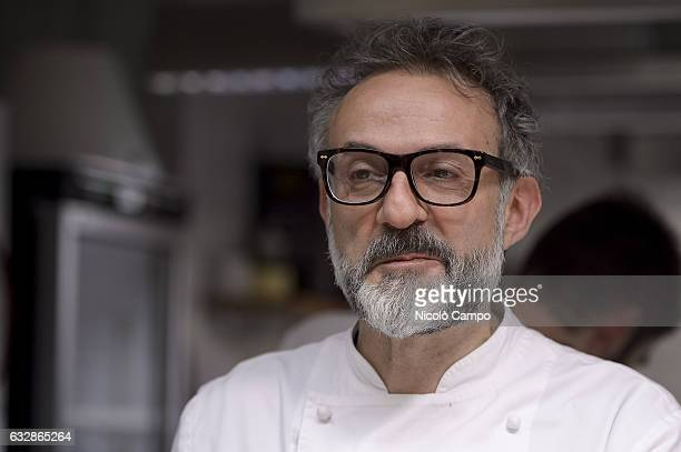 Massimo Bottura chef patron of the threeMichelinstar restaurant Osteria Francescana looks on during the celebration for Eataly 10th anniversary...