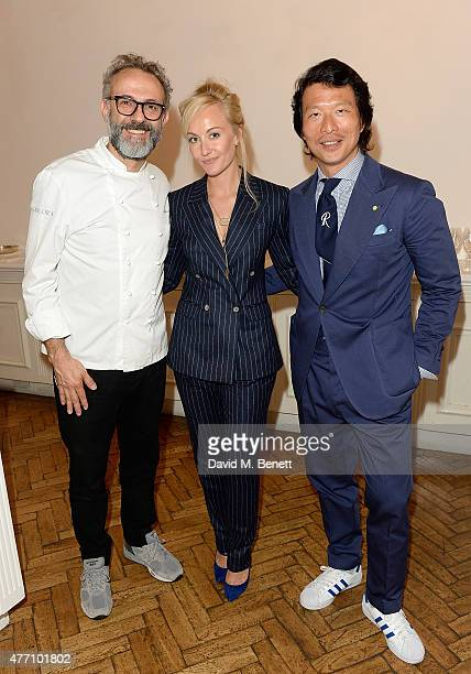 Massimo Bottura Sarah Ann Murray and Wei Koh attends the brunch for REDA in collaboration with The Woolmark Company and Magnum celebrating 150 years...