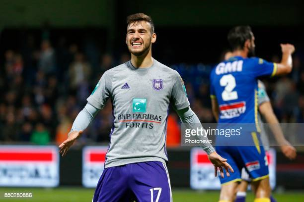 Massimo Bruno midfielder of RSC Anderlecht pictured during the round of 1/16 Croky Cup between Kvc Westerlo and Rsc Anderlecht on september 20 2017...