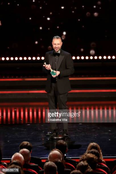 Massimo Cantini Parrini receives the Best Costumes Award during the 61 David Di Donatello ceremony on March 27 2017 in Rome Italy