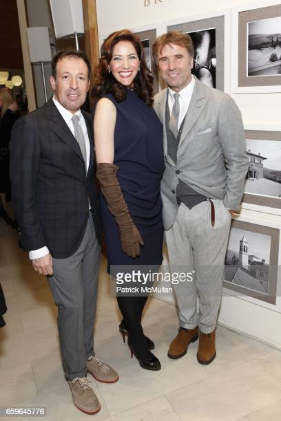 Massimo Caronna Melba Ruffo Di Calabria and Brunello Cucinelli attend BRUNELLO CUCINELLI And SAKS FIFTH AVENUE Event In Support of HENRY STREET...