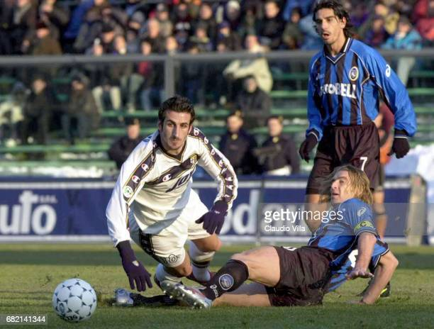 Massimo CARRERA of Atalanta and Micoud of Parma in action during the SERIE A 15th Round League match between Atalanta and Parma played at the Azzurri...