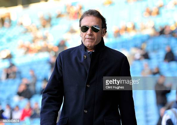 Massimo Cellino President and Director of Leeds United during the Sky Bet Championship match between Leeds United and Fulham at Elland Road on...