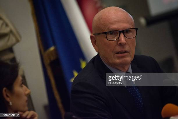 Massimo Colomban Councillor Participants during a press conference to present plans to reorganise investee companies on September 20 2017 in Rome...