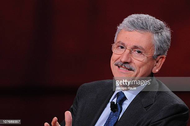 Massimo D'Alema attends 'Che Tempo Che Fa' Italian TV Show on December 19 2010 in Milan Italy