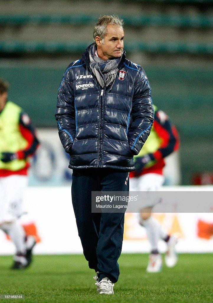 Massimo Drago head coach of Crotone during the Serie B match between Reggina Calcio and FC Crotone at Stadio Oreste Granillo on December 3, 2012 in Reggio Calabria, Italy.