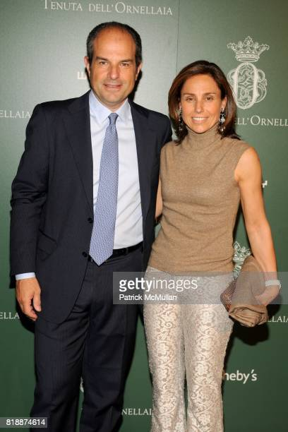 Massimo Ferragamo and Chiara Ferragamo attend Ornellaia 2007 Vendemmia DíArtista Celebration Dinner at The Whitney Museum of American Art on April 28...