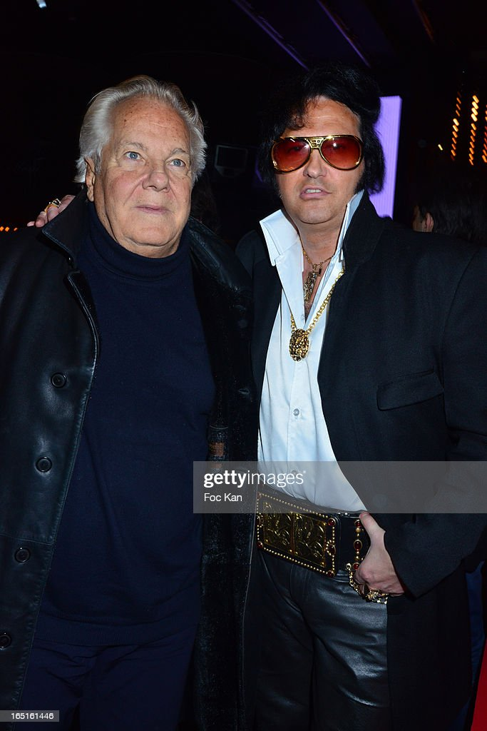 Massimo Gargia and Eryl Prayer attend the 'OmarJeans' Launch Party At The Pavillon Champs Elysees on March 31, 2013 in Paris, France.