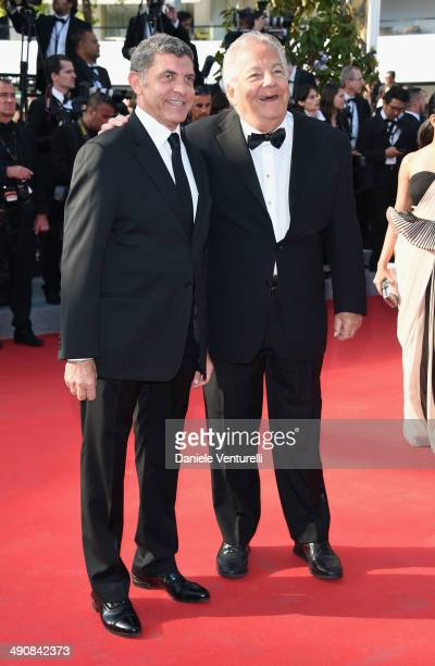 Massimo Gargia and Giovanni Cottone attend the 'MrTurner' Premiere at the 67th Annual Cannes Film Festival on May 15 2014 in Cannes France