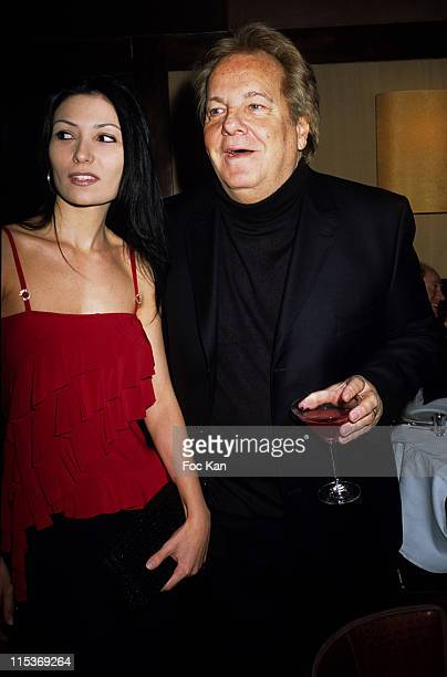 Massimo Gargia and guest during Russian New Year Party Hosted By Wyborowa Vodka at Castel Club Restaurant in Paris France
