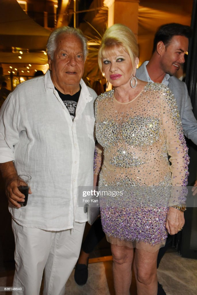 Massimo Gargia and Ivana Trump attend the Massimo Birthday Party at Hotel de Paris As Part of Saint-Tropez Party On French Riviera on August 20, 2017 in Saint-Tropez, France.