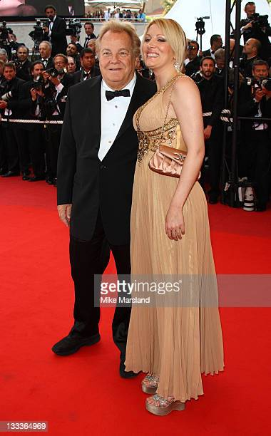Massimo Gargia and Loana Petrucciani attend the 'Vengeance' premiere at the Grand Theatre Lumiere during the 62nd Annual Cannes Film Festival on May...