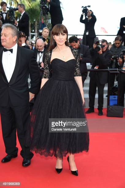 Massimo Gargia and Monica Bellucci attends 'The Homesman' Premiere at the 67th Annual Cannes Film Festival on May 18 2014 in Cannes France