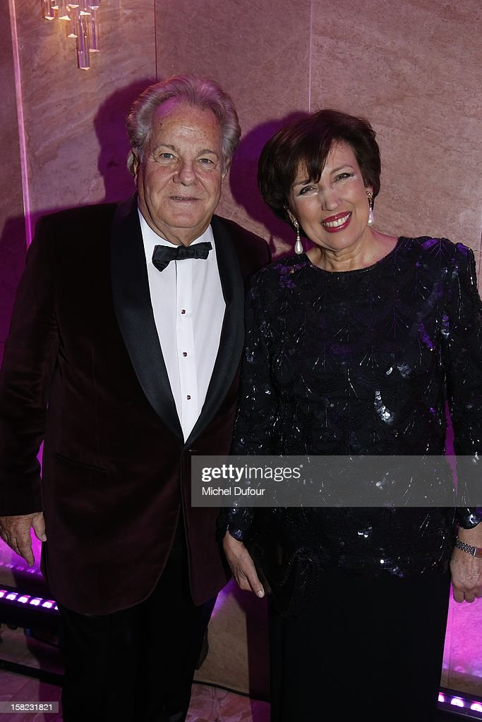 Massimo Gargia and Roselyne Bachelot attend the The Bests Awards 2012 Ceremony at salons hoche on December 11, 2012 in Paris, France.