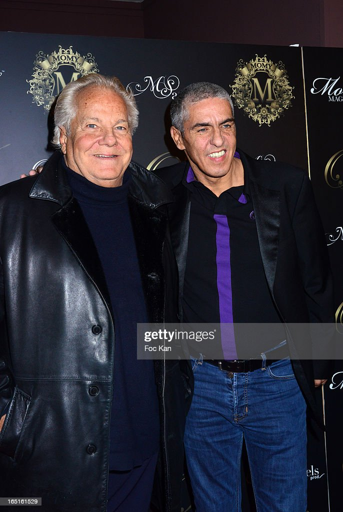 Massimo Gargia and Samy Naceri attend the 'OmarJeans' Launch Party At The Pavillon Champs Elysees on March 31, 2013 in Paris, France.