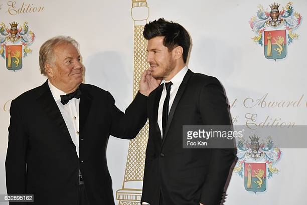 Massimo Gargia and Vincent Niclo attend 'The Best Award Gala 40th Edition' at Four Seasons George V Hotel on January 27 2017 in Paris France