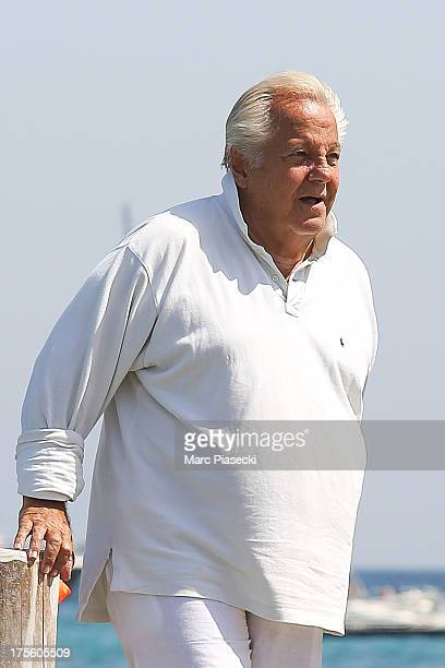 Massimo Gargia is seen arriving at the 'Club 55' beach on August 4 2013 in SaintTropez France