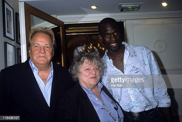 Massimo Gargia Josee Dayan and Pascal Gentil during Massimo Gargia's Photographs Collection Exhibition April 27 2006 at Royal Monceau Hotel in Paris...