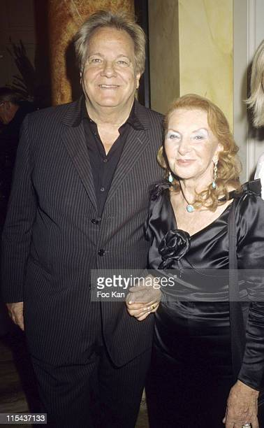 Massimo Gargia Lucie Saint Clair and A Guest during Lucie Saint Clair's Jewellery Cocktail Party June 13 2006 at Centre du Diamant in Cannes France
