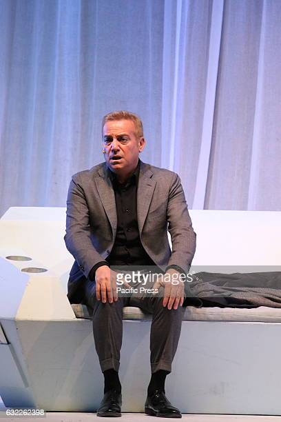 Massimo Ghini at the Teatro Augusteo in Naples during a performance of the comedy 'Unora di tranquillità' by Florian Zeller a contemporary French...
